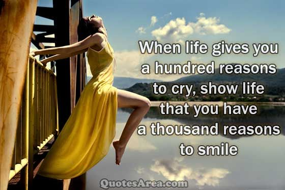 Smile When Life Tells You To Cry