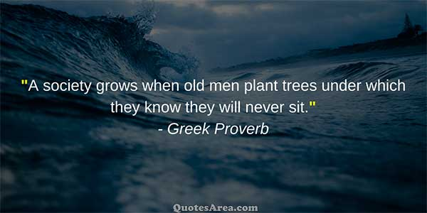 A society grows when