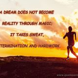 A Dream Doesn't Become Reality Through Magic; It Takes Sweat, Determination, And Hard Work.